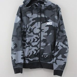 Nike  Camo Full Zip Hooded Jacket M226